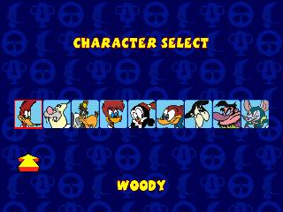 Screenshot Thumbnail / Media File 1 for Woody Woodpecker Racing [NTSC-U]